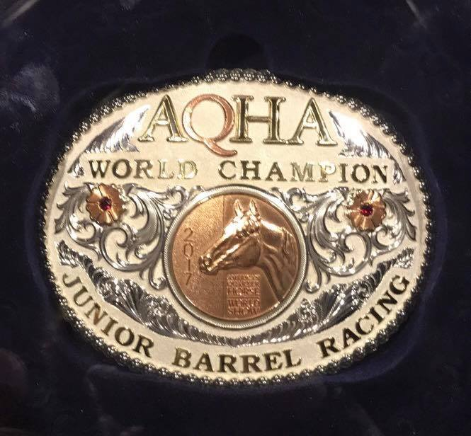 Guys Dashing Jet by #FrenchmansGuy owned by Cathy Geary is the 2017 AQHA Jr. Barrel Racing World Champion!!!