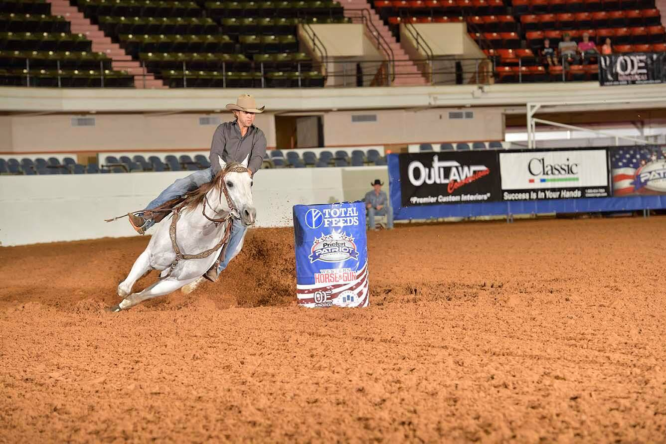 This horse never ceases to amaze me! #StraitDallasFuel just won the first #AmericanQualifier of the year at the #Patriot in Ft. Worth, TX!