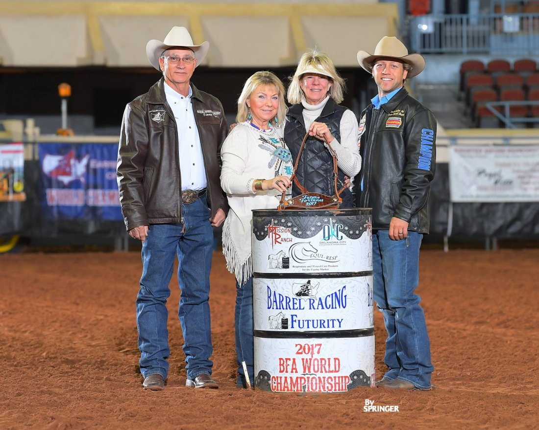 Future Fortunes Derby Champion: Horse - Guys Dashing Jet Owner - Cathy Geary - $1,029.00 Breeder - Cathy Geary - $294.00 Sire - Frenchmans Guy - $147.00 Rider - Pete Oen