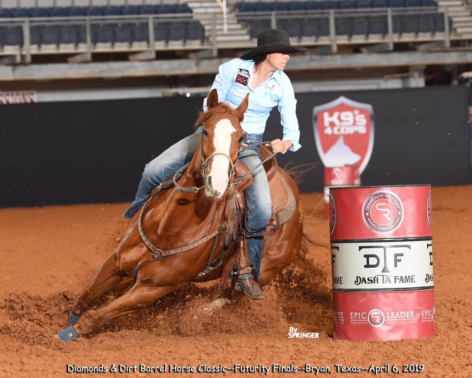 VQ Im Buzzed owned by Robin Weaver and Ryann Pedone placing 12th in the futurity finals.