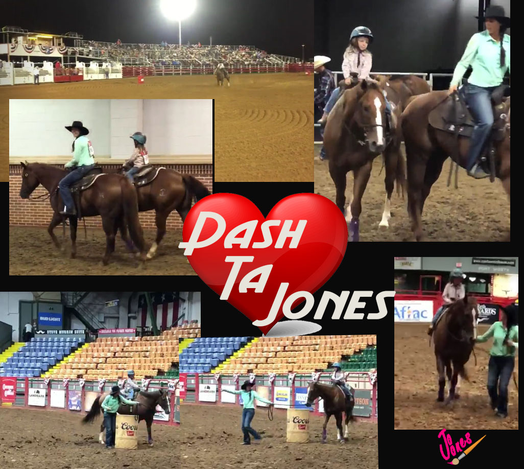 Dash Ta Jones placing at Henrietta Rodeo with Ryann and then going to Northside to take Kendall on a calm nice exhibition. (Click on the links in the comments to view videos)