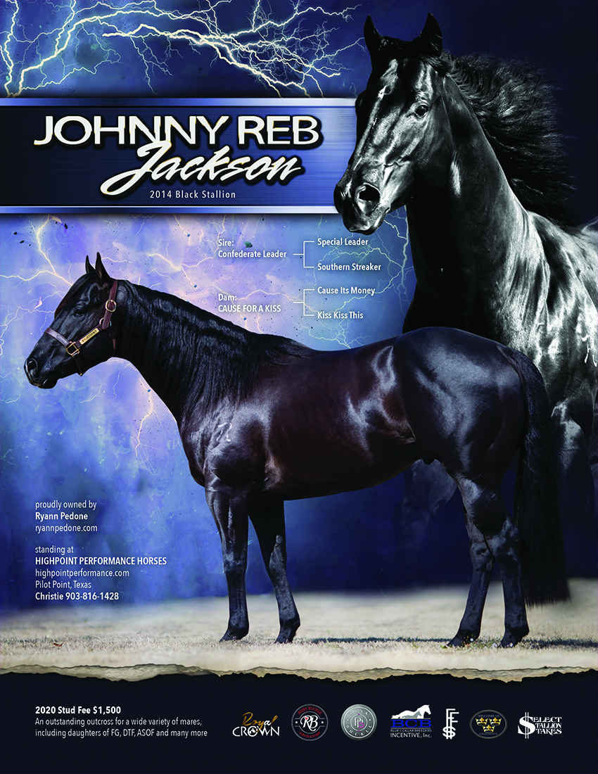 Johnny Reb Jackson ads Ruby Buckle to his list of  Breeders Incentives.