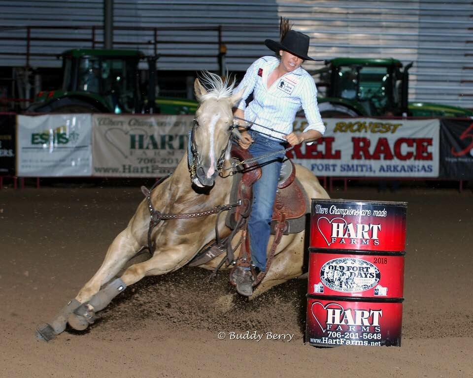Turn N With Ease running a 17.150 in the Old Fort Days Futurity Finals for $3,882.47