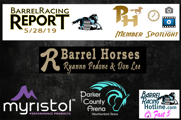 hotSite client Ryann Pedone win the Futurity Sidepot at the RBR, Myristol PCA Results on page 34 of this issue of the Barrel Racing Report, if you missed the Fast Five Video you will want to check it out.