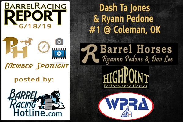 Its Dash Ta Jones and Ryann Pedone for the win at the Coleman, OK Pro Rodeo