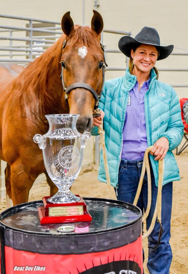 2017  Isabella Quarter Horse Futurity Slot Race Champions Jolene Montgomery and Jets Heart N Soul by Owned by Busby Quarter Horses Jets Heart N Soul is by Blazin Jetolena.