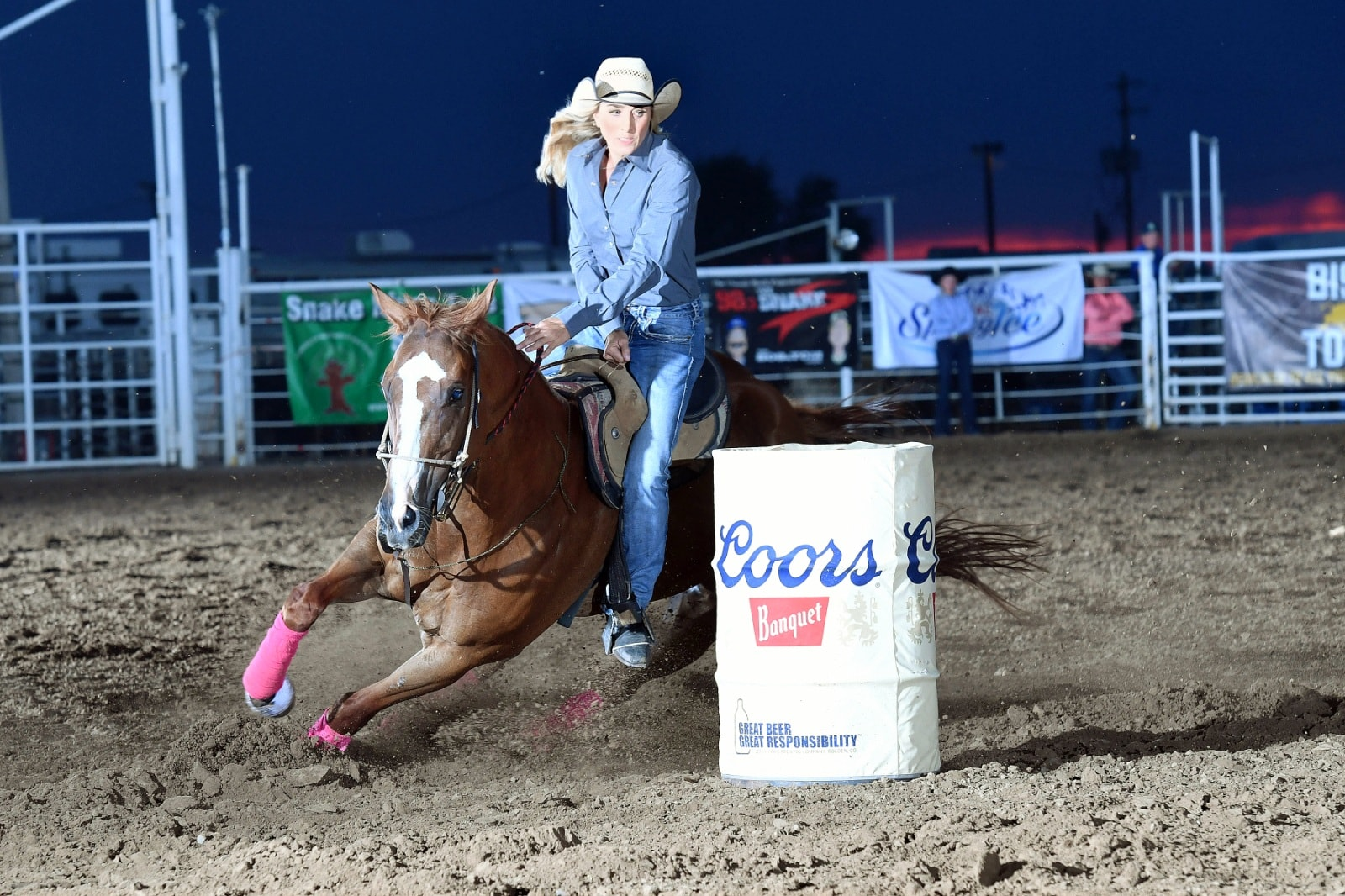 Congratulations to Tiany Schuster and Show Mance on their new arena record at the PRCA Rodeo in Jerome, ID 16.97