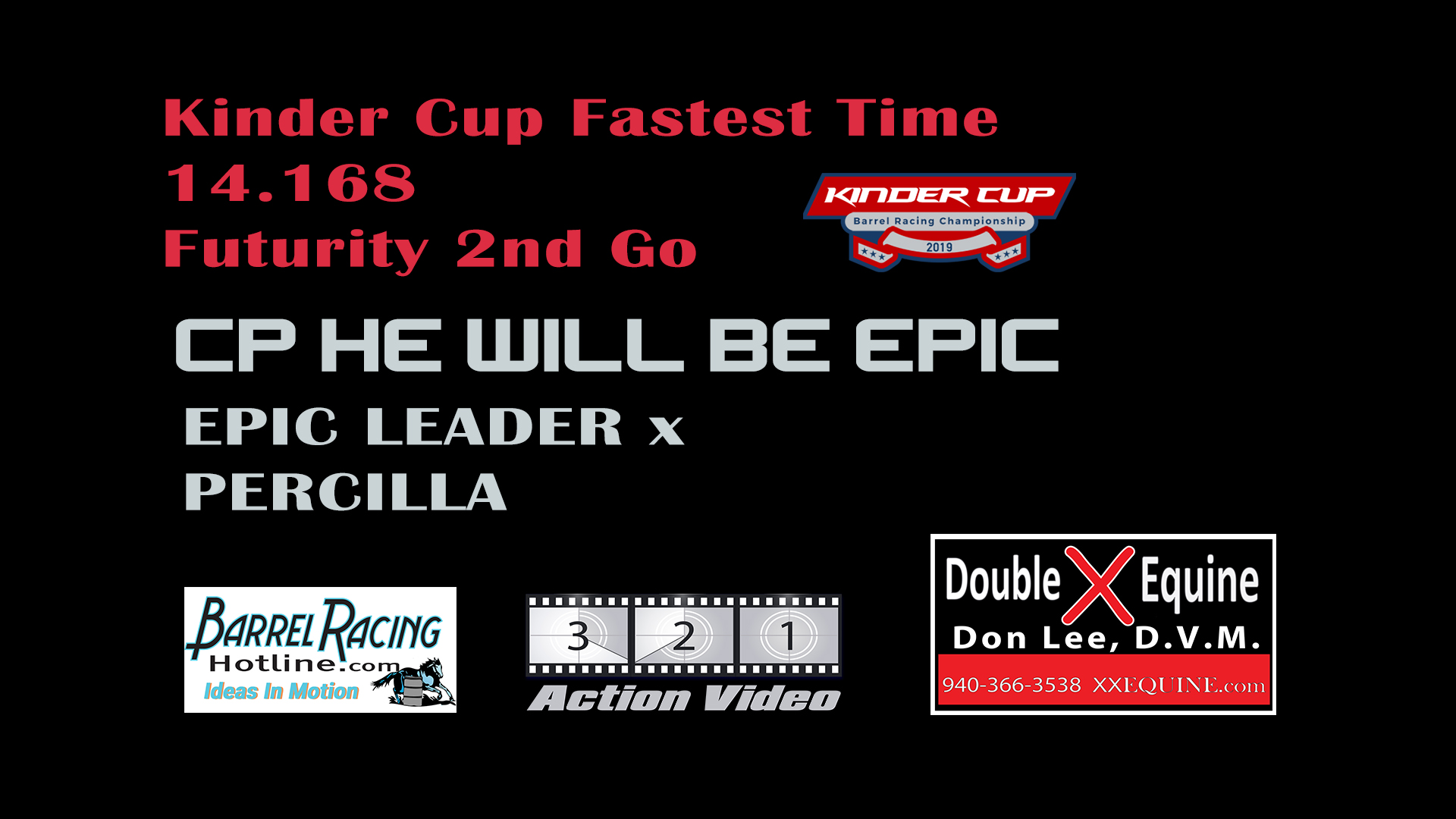CP He Will Be Epic by Epic Leader and Kassie Mowry post this 14.168 for the fastest time of the entire weekend on this winning run in the 2nd go of the Kinder Cup Futurity.