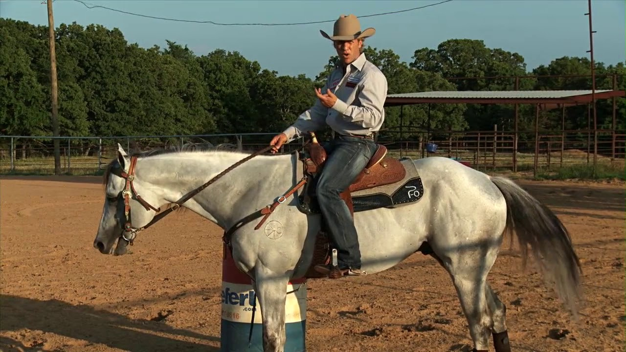 Barrel Racing Training Video: Running Past the 1st Barrel with Pete Oen