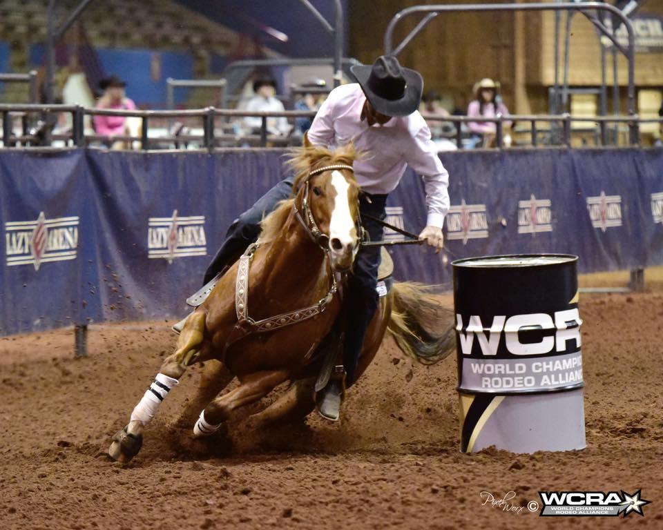 Kelly Conrado won the WCRA Rodeo Semifinals Preliminary Round 1 on Cfour Tibbie Stinson (Eddie Stinson x Little Fancy Granny x Del Puerto Bill) with a 14.544.
