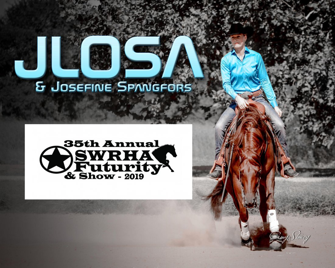 Jlosa ended up 3rd in the Level 1 and 7th in the Level 2 at the Southwest Reining Horse Association Oct 21-26, 2019