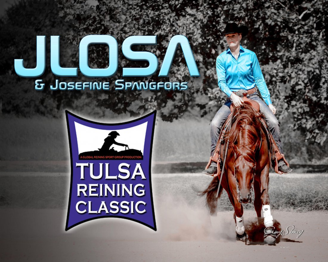 Jlosa owned by Euro-Vets earning  the Reserve Futurity Champion Title  in the L1 and placed in all divisions with a top 5 in the L4 at the Tulsa Reining Classic