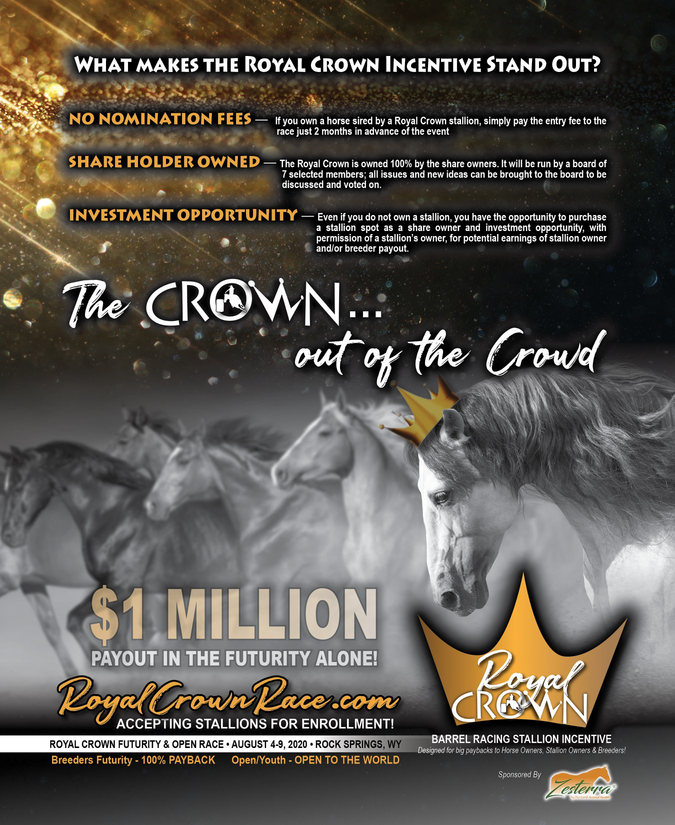 What makes the Royal Crown Stallion Incentive Stand Out?