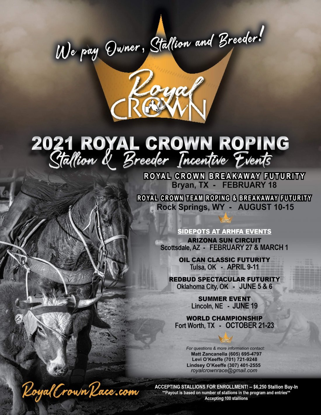 Rope Horse Futurity Information- We are still accepting stallions!