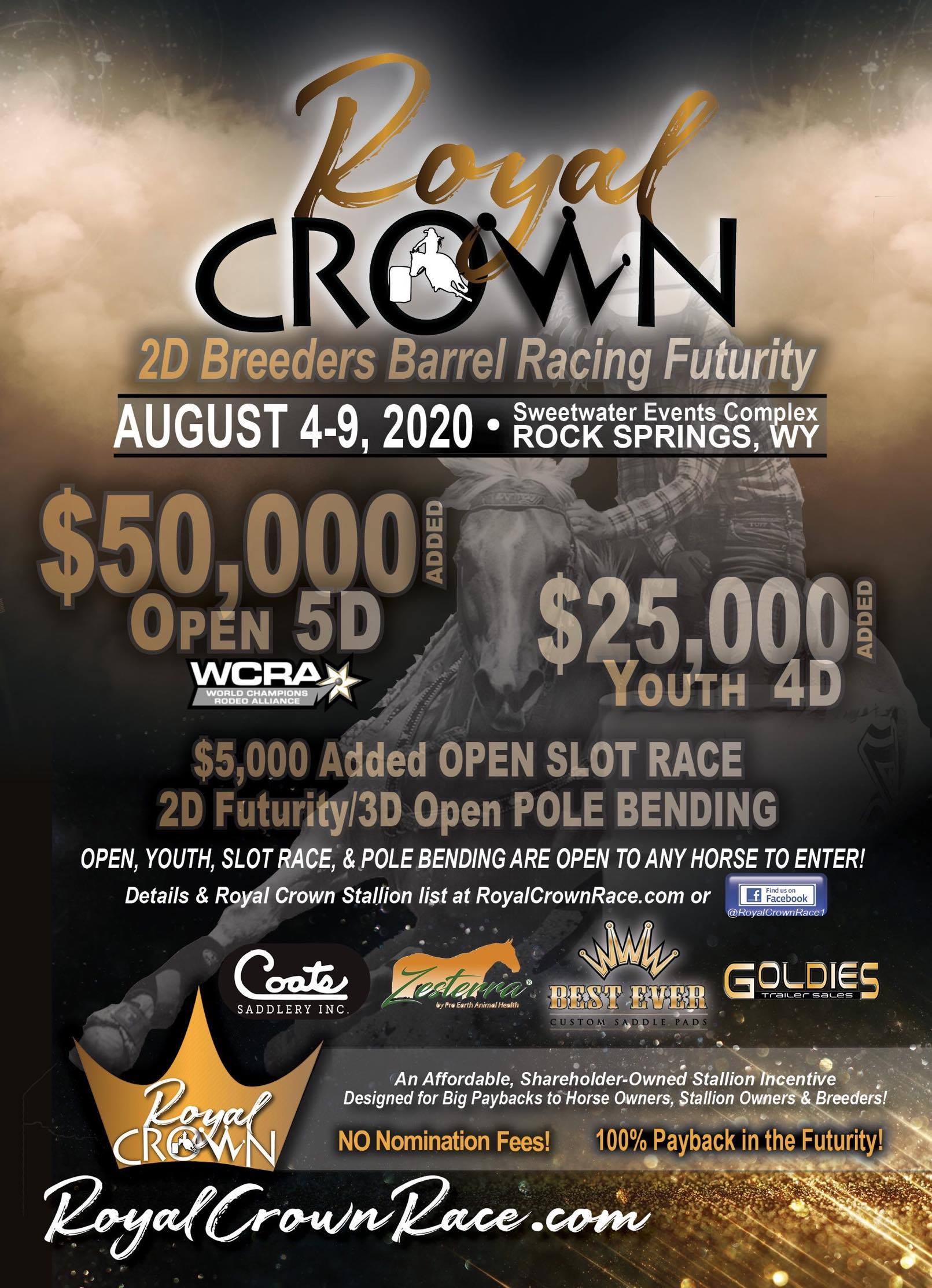 2021 Royal Crown Race will be 8/10-8/15/21