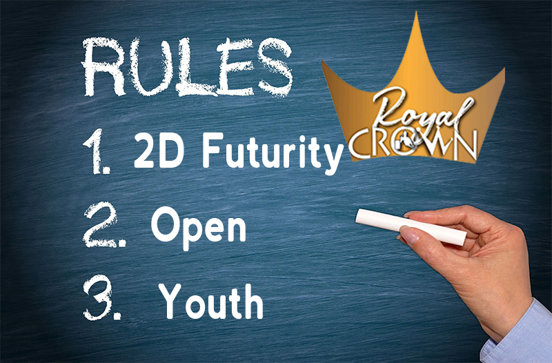 The Royal Crown Race Rules have been posted.  Click the link to view the schedule, entry forms, rules...