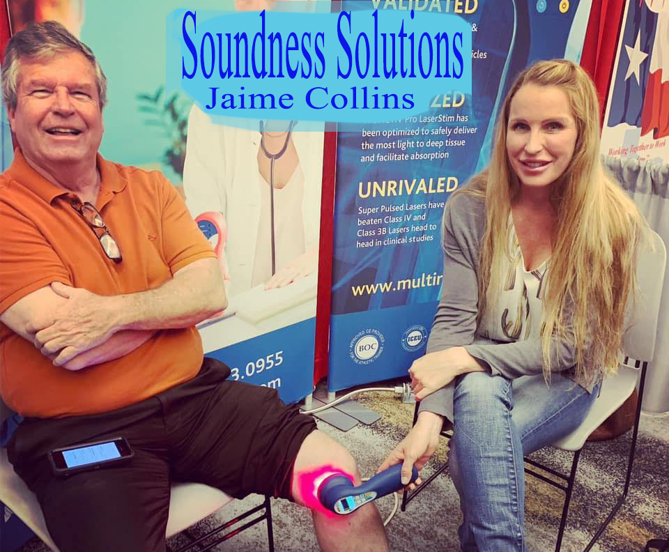 Jaime Collins Soundness Solutions featuring Multi Radiance Super Pulsed Lasers, ekijoint gold and more!